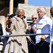 Graça Machel and Richard Branson
