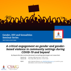 Engagement on gender and GBV
